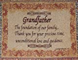 Grandfather Throw Blanket - Grandpa Gift - Made in USA