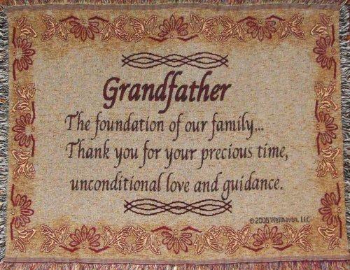 Jubilee Celebrations Grandfather Throw Blanket - Grandpa Gift - Made in USA