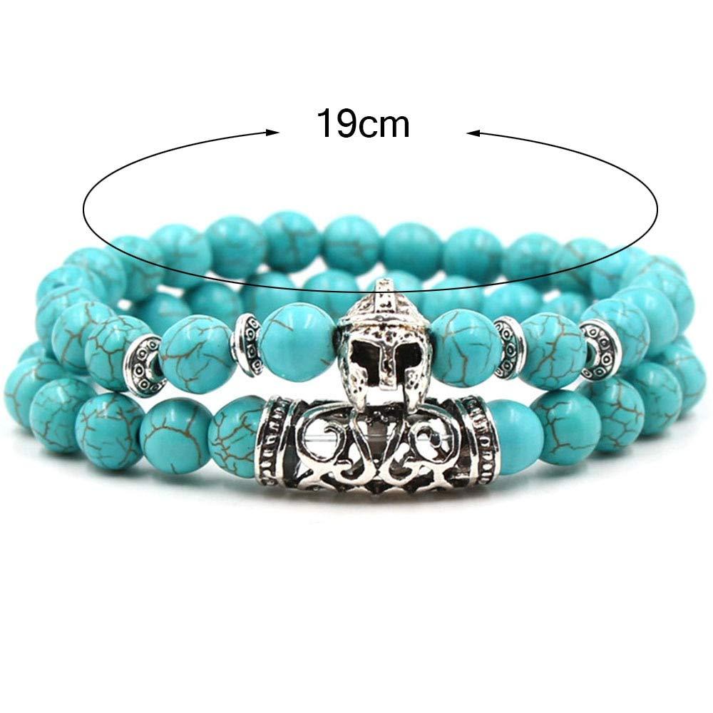 Amazon.com: Gabcus 2Pcs/Set Natural Stone Beaded Bracelets ...