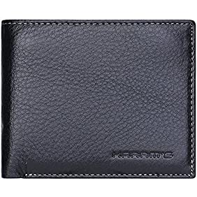 Harrms Genuine Leather Wallets for men,Italian Top Cowhide leather Bifold wallet