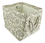 DII Woven Paper Textured Storage Basket, Collapsible & Convenient For Office, Bedroom, Closet, Toys, Laundry - Small, Taupe Damask