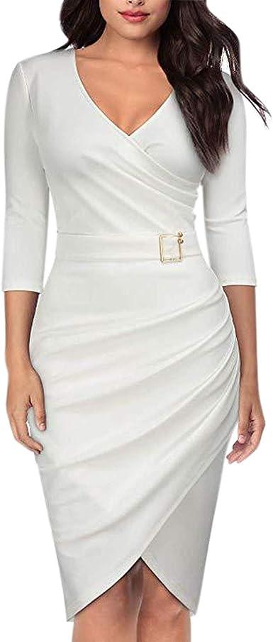 Lisli Robe De Soiree Coctail Cache Coeur Manches 3 4 Tunique Pres Du Corps Taille Ceinturee A Plissage Femme Elegant Amazon Fr Vetements Et Accessoires