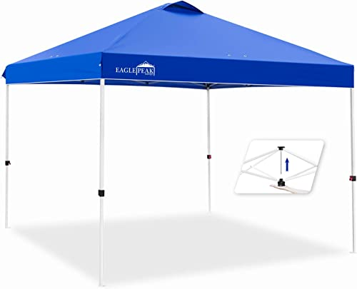 EAGLE PEAK 10 x 10 Pop Up Canopy Tent Instant Outdoor Canopy Easy Set-up Straight Leg Folding Shelter
