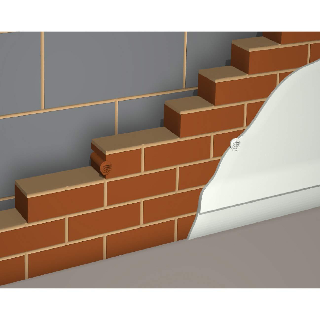 10 x Natural transparente nvdr timloc respiraderos sistema de ventilaci/ón redonda cavidad//pared muros de contenci/ón