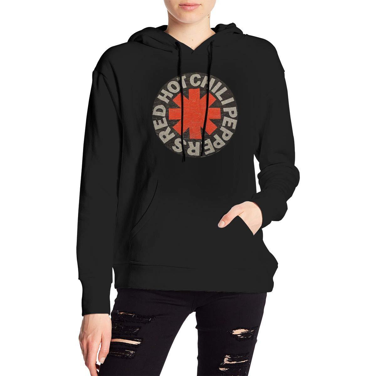 AIDANHAR Girl Custom Red Hot Chili Peppers with Hood Classic Sweatshirt Black