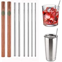 6-Pack Lifny Reusable Stainless Steel Straw