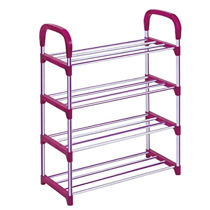Shoe rack_4-5 Tiers 10 Pairs Iron Shoe Shelf Plastic Molding