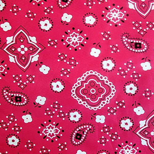 Poly Cotton Print Bandana 60 Inch Fabric by the Yard (F.E. -