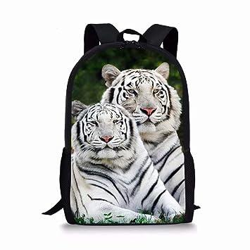 ab9771de6c95 Allcute Kids School Backpack Large Durable Elementary Preschool Book Bags  for Boys Girls Tiger Print