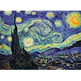 PalaceLearning The Starry Night 1889 by Vincent Van Gogh - Fine Art Poster - Wall Art Print (Laminated, 18