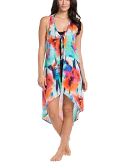 b3769bfb627e9 La Blanca Women's Bloom Garden Sleevless Kimono Dress Cover Up (S/M ...