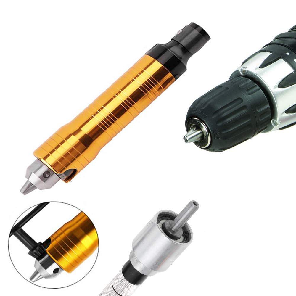 Eyech 0.3-6.5mm Flex Shaft Extension Chuck Key Flexible Shaft Power Drill Converter Attachment for Dremel Rotary Grinder Woodworking Tools Pen Design