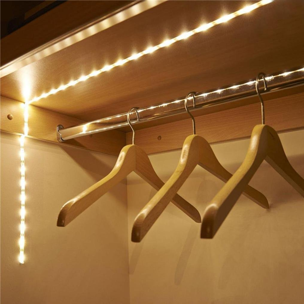 Culater® Motion Sensor Wardrobe Light Battery Operated 1M LED Strip Light Wireless PIR Motion Sensor Light Bar Culater® Culater®-505