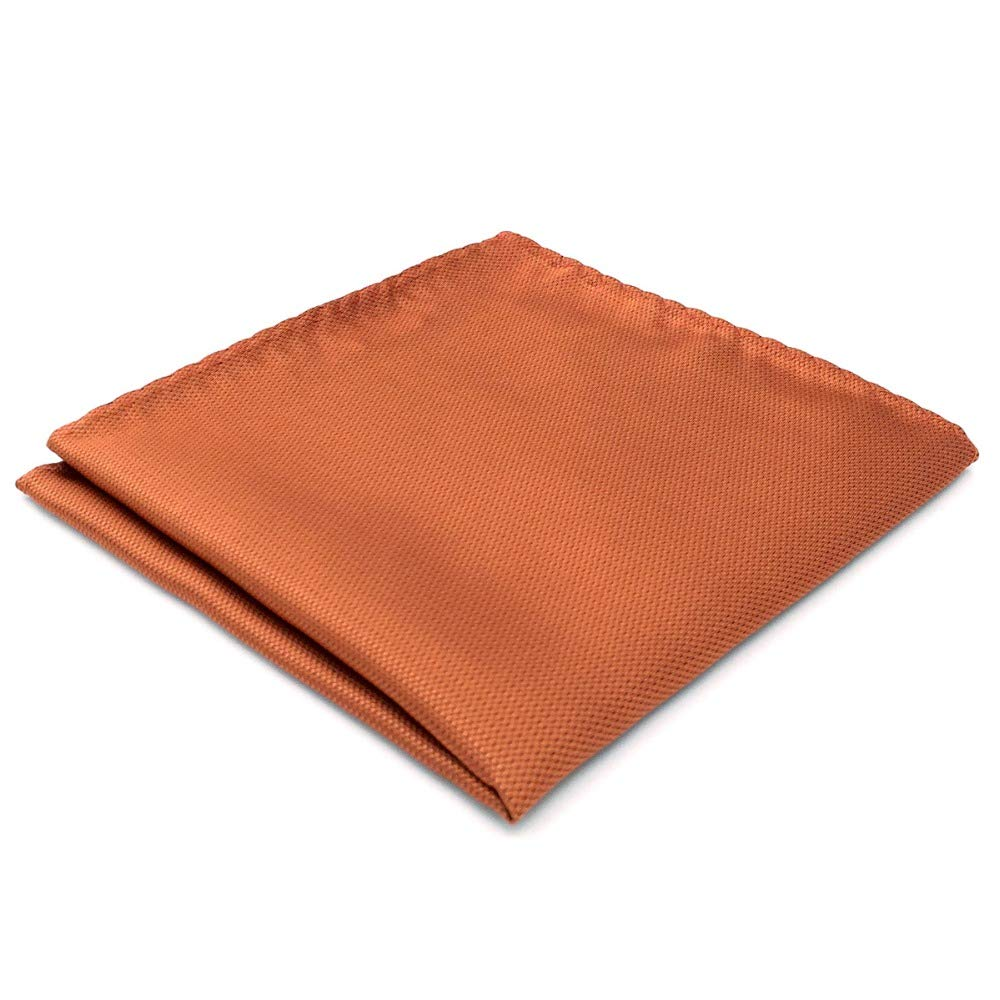 Shlax& Wing Solid Orange Pocket Square For Men Jacquard Woven Hanky Gift Shlax & Wing CH16