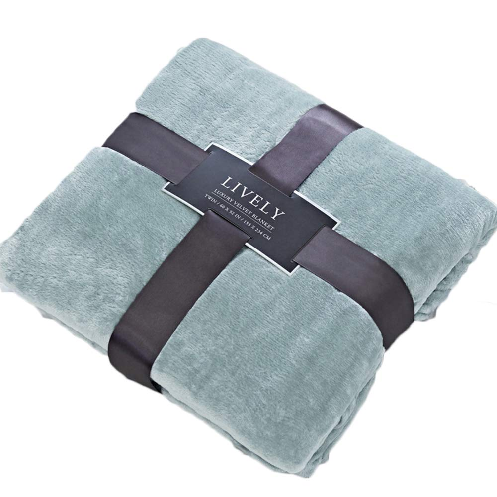 Green California King - 90 ×102  CLOTHKNOW Solid Purple Flannel Blanket California King Women, Lightweight Blankets Extra Large - 90 ×102 , One Layer Blanket Throws for Bed King Soft Cozy Plush