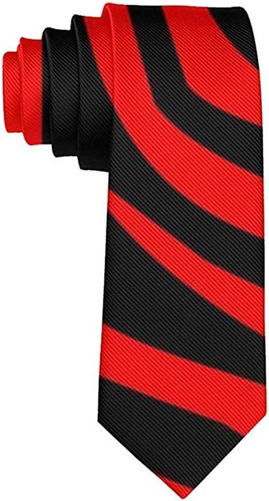 Corbata Corbatas divertidas Cebra Rojo Negro Estilo de impresión ...