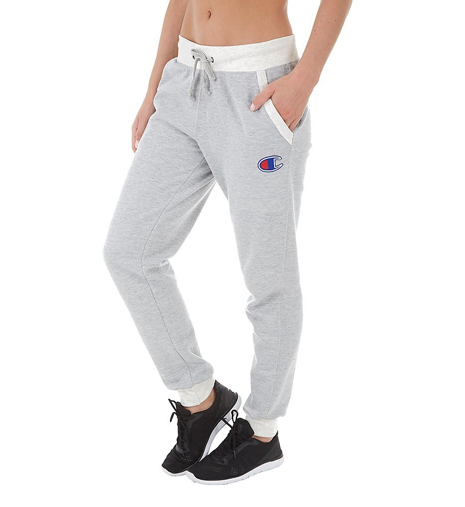 Champion Powerblend Fleece Jogger with Applique (M0937F) M/Oxford Grey/Oatmeal