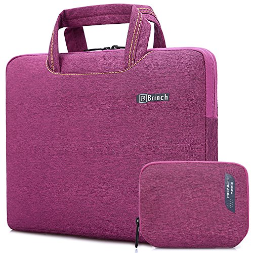 Brinch 15, 15.6-Inch Waterproof Laptop Case Bag with Handle for Apple Macbook, Chromebook, Acer, Asus, Dell, Fujitsu, Lenovo, HP, Samsung, Sony, Toshiba - Purple (Case Hp Purple Laptop)