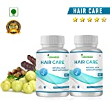 oriander 100% natural & organic hair care extract for hair loss, hair fall, baldness, hair problems 800 mg 60 capsules (pack of 2)