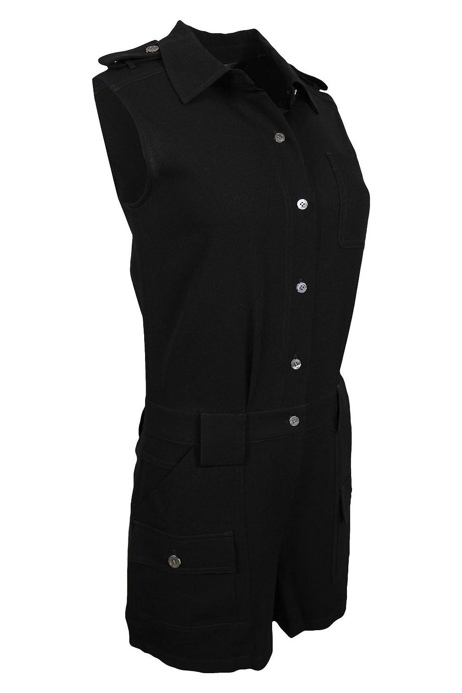 fb60d0e2bfa Amazon.com  Marc by Marc Jacobs Women s Irving Light Weight Crepe Sleeveless  Short Jumpsuit
