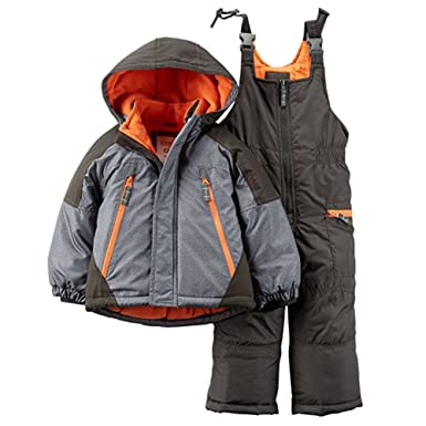 f0bc49f6e Amazon.com  Carter s Baby Boys Colorblock Snowsuit Set - 12 Months ...