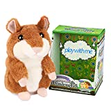 Halobang Talking Hamster Repeat What You Say Mimicry Pet Toy Plush Buddy Mouse for Children Gift Halloween and Christmas