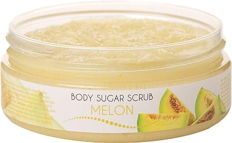 handmadecosmetics4u caseros Facial Exfoliante Suave azúcar crema exfoliante con semillas de melón olor y Natural Fruta