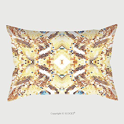 Custom Satin Pillowcase Protector Mosaic Colorful Pattern For Wallpapers Design And Backgrounds 598548752 Pillow Case Covers Decorative by chaoran