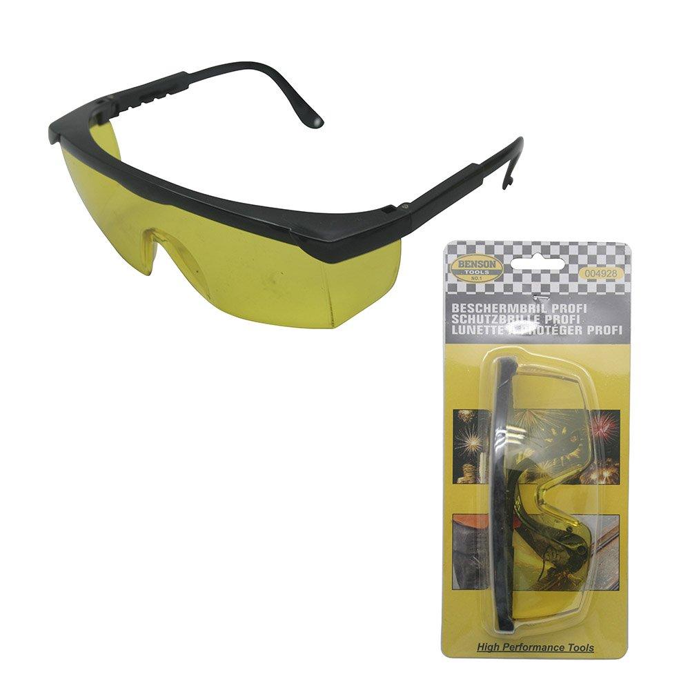 Profi Sicherheits Schutzbrille Arbeitsbrille Vollsichtbrille Augenschutz mit gelben Glä sern Beast