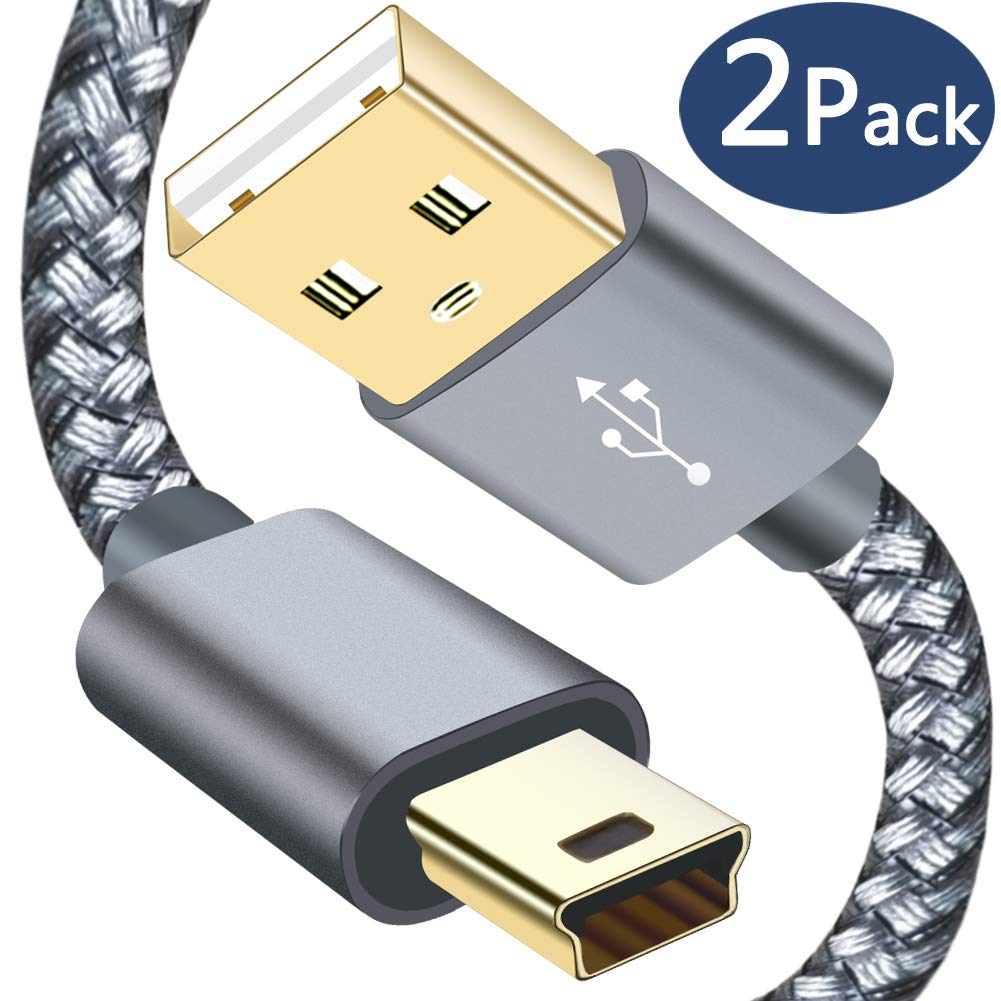 Mini USB 2 0 Cable Braided,Type A to Mini B Charger Cord