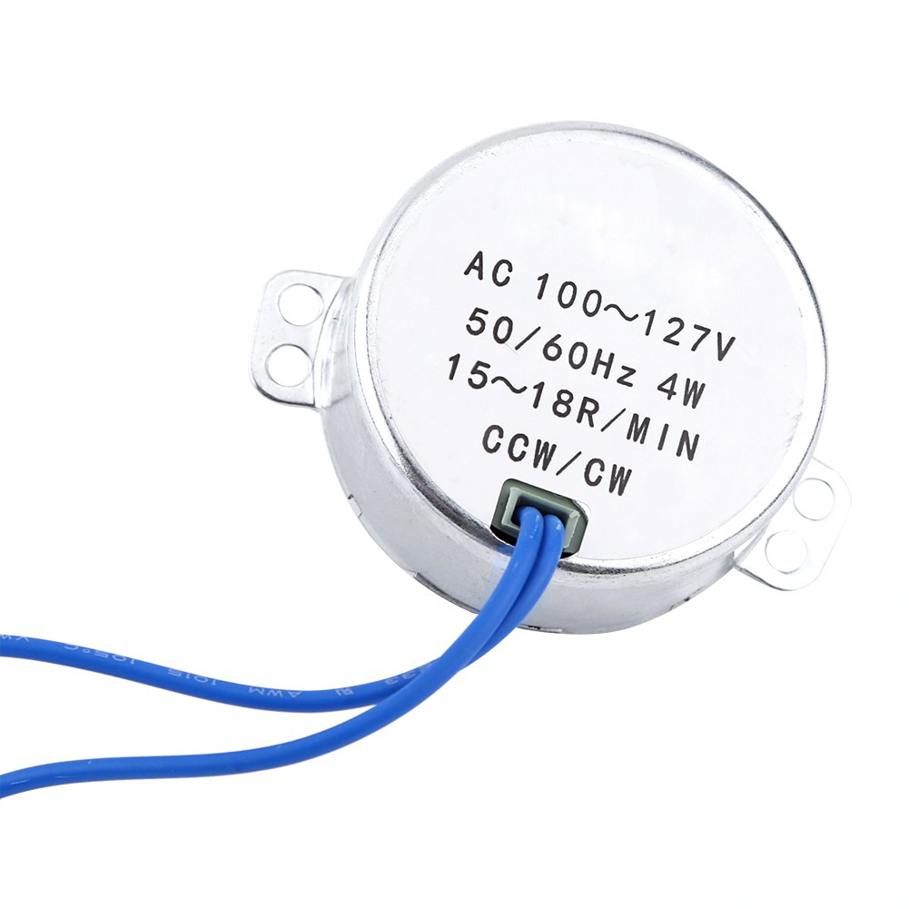 1 Pc AC 100-127V 4W Synchronous Motor 50/60Hz CCW/CW Geared Motor(10-12RPM) Zerone