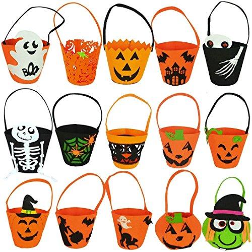 First Halloween Pumpkin Bag Unisex Baby Girl Boy Costumes Gifts Accessory Single Handbags Storage (Free Size, 1 Pack Random)