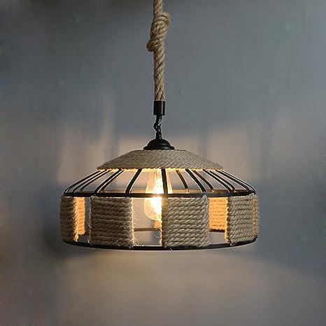 Creativo colgante lámpara E27 Portalámparas redondo retro ...
