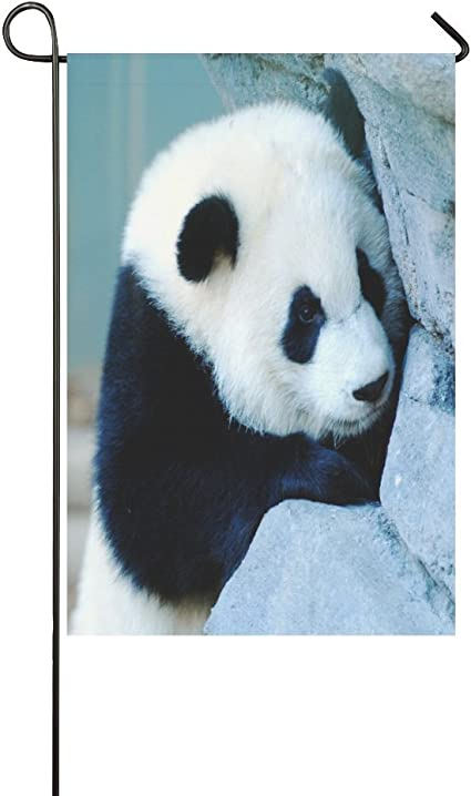 Garden Flag Panda Weatherproof 100 Polyester Garden Flag 12 X 18 One Side Garden Outdoor