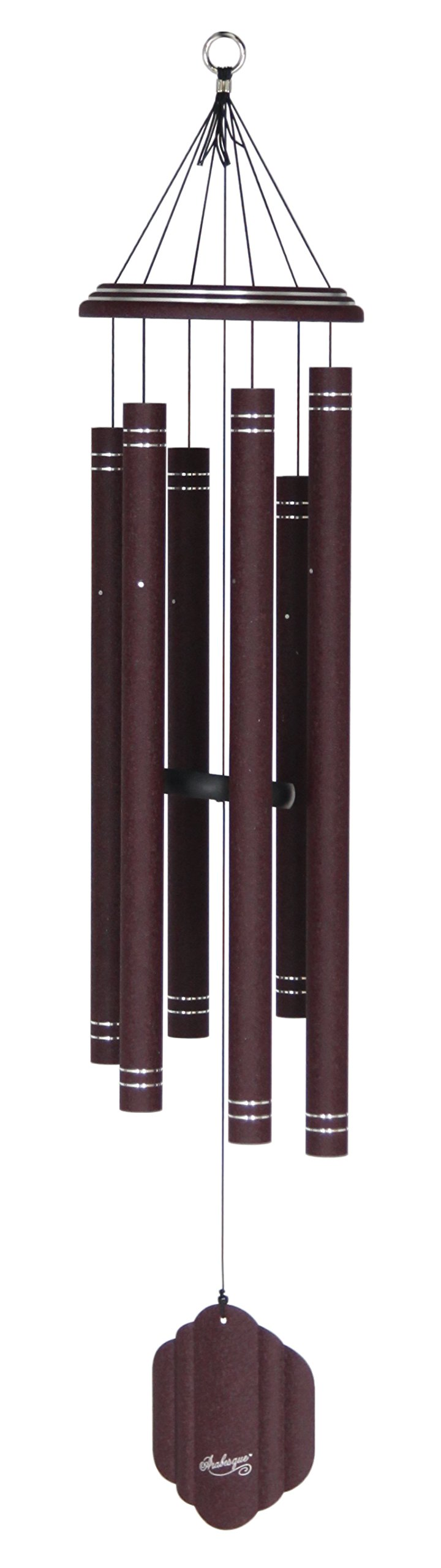 Arabesque 44-inch Windchime, Garnet