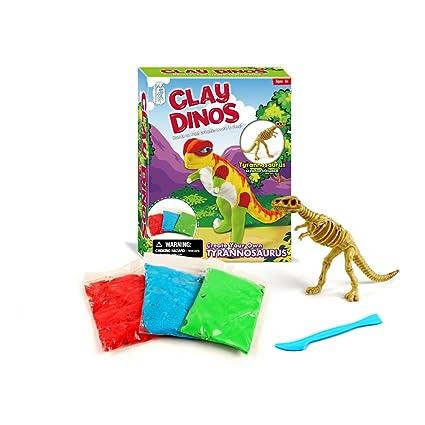 XX Dinosaur Clay Dino Play Dough kit-creatiity for Kits-Build Dino Art and  Craft Toys-T-rex