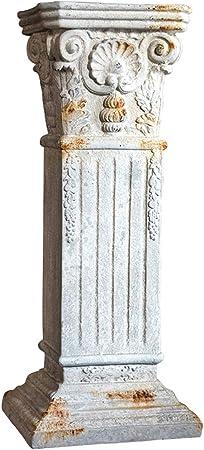 SDBRKYH Escultura de Columna Romana de jardín, decoración de jardín Vintage Pedestal de Flores Patio Decoración de jardín Accesorios: Amazon.es: Hogar