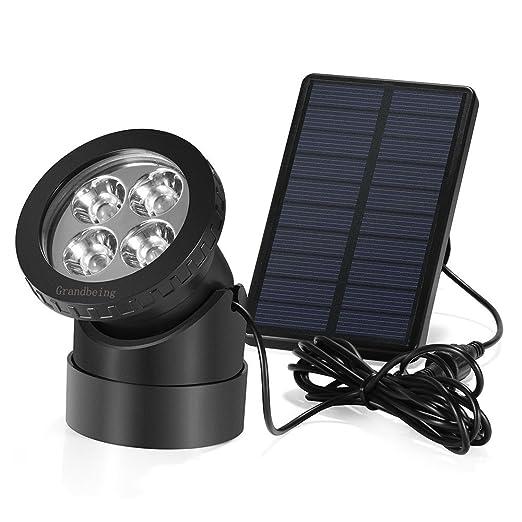 40 opinioni per Lampada Solare Giardino LED Impermeabile IP67, Illuminazione Esterno Energia