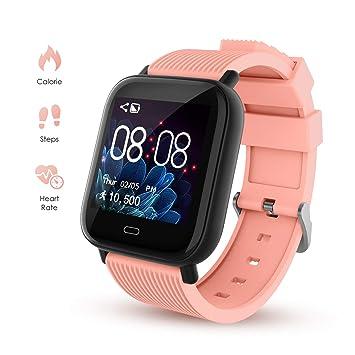 Smartwatch Deporte para Hombre Mujer Impermeable Reloj Inteligente ...