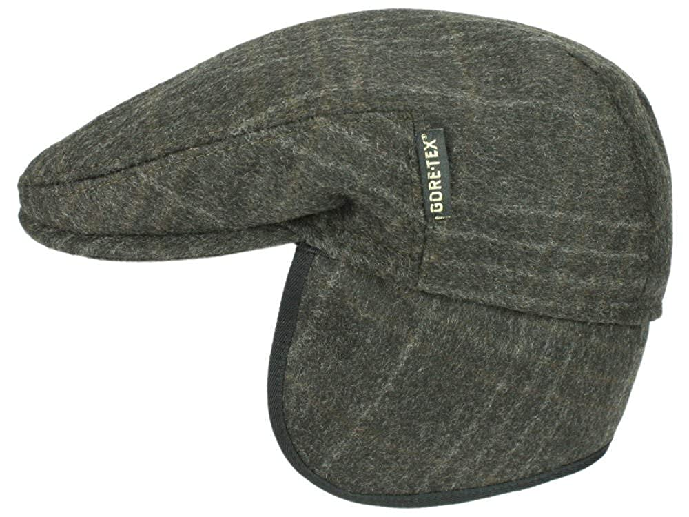 Göttmann Denver EF Gore-Tex Flatcap Schirmmütze Schurwolle Ohrenklappen - dunkelbraun 1103140