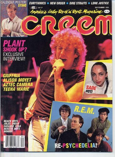Creem Magazine ROBERT PLANT Sting SADE Giuffria R.E.M. Aztec Camera ALISON MOYET September 1985 C (Creem Magazine)