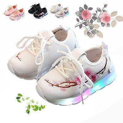 Motif FleursChickwin Led Enfant Chaussures Maille Respirante De 4q5L3RcjA