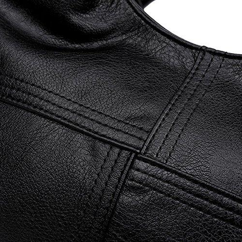 à Fashion Souple Sacs Sacs Cuir Main Black Main à En Crossbody Amérique Europe AJLBT Xq877