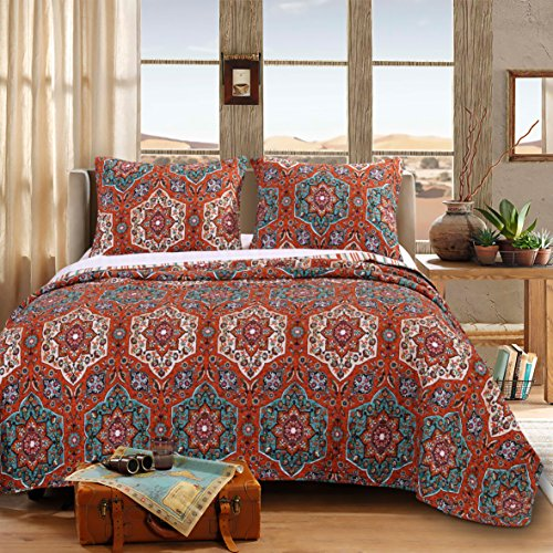 Barefoot Bungalow Sofia Quilt Set, 3-Piece King Marco Comforter Set