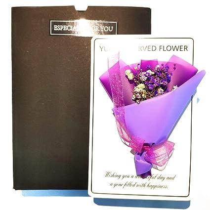 Amazon Com Eternity Preserved Dried Flowers Greeting Cards Birthday
