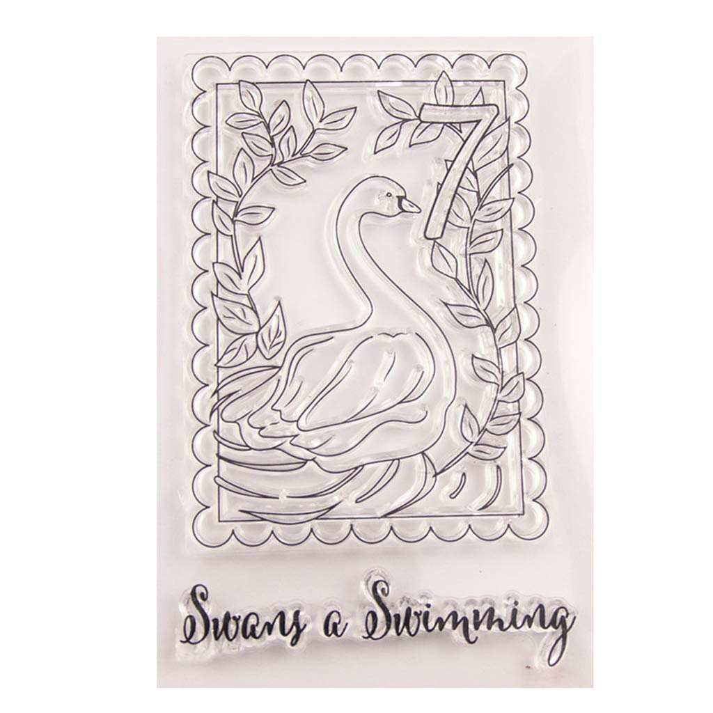 Yevison Animal and Leaves Transparent Clear Silicone Seal Stamp for DIY Scrapbooking Paper Decoration Holiday Birthday Card Making Durable and Useful
