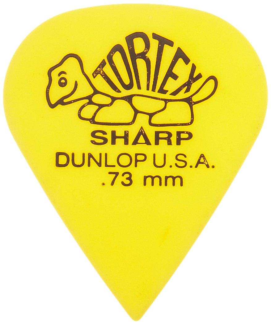 Dunlop Tortex Sharp Guitar Picks .73mm Yellow 72 Pack