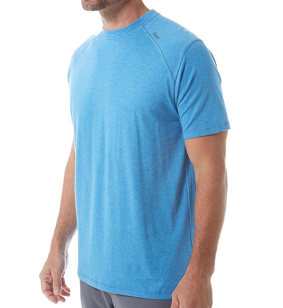 tasc men's carrollton t-shirt, blue heather, medium by tasc Performance