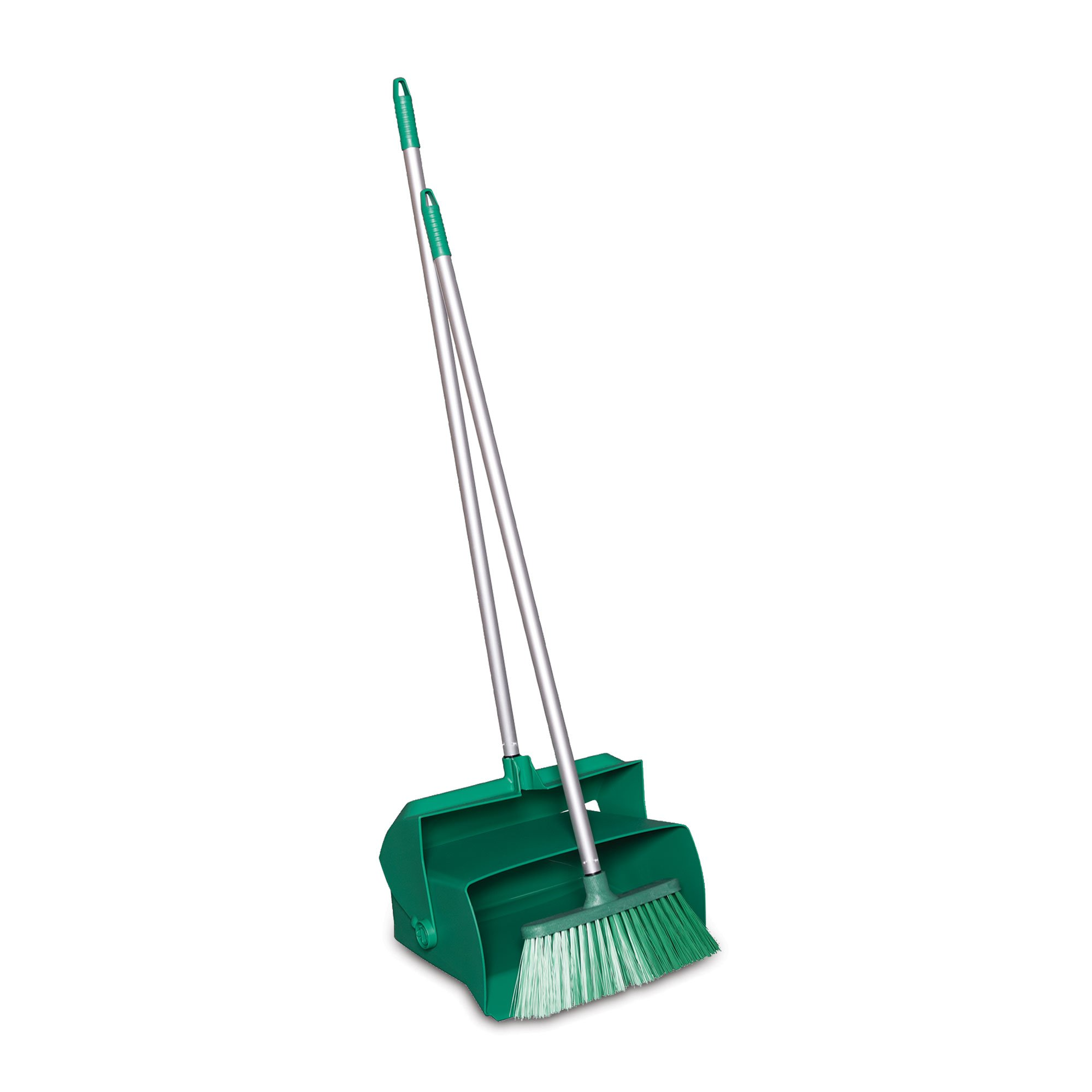 Remco 62502 Lobby Dustpan with Broom, Polypropylene/Polyester/Aluminum, 7'' X 14'' Bin, 37'' Handle, Green by Remco (Image #1)