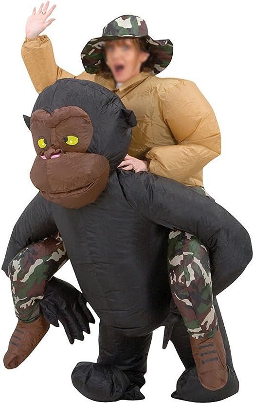 HAPPY & HOME traje de fiesta inflable de Halloween Traje de gorila ...